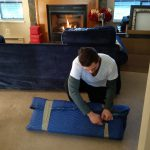 Movers Burnaby BC Signature Moving unwrapping glass pieces 778-325-6683