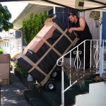 affordable Moving company burnaby Signature Moving loading a dresser
