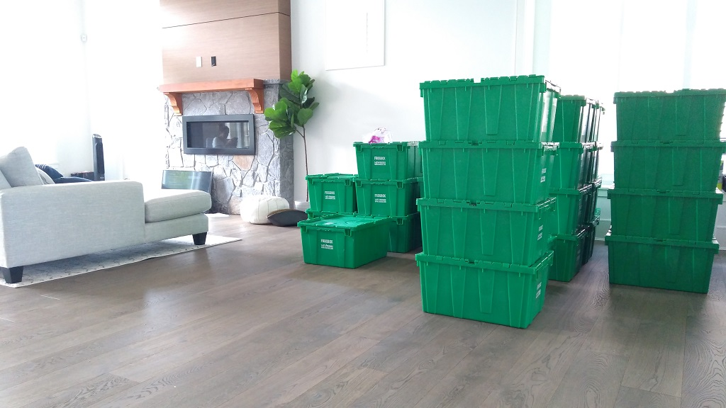 movers Burnaby Signature Moving carefully stacked boxes